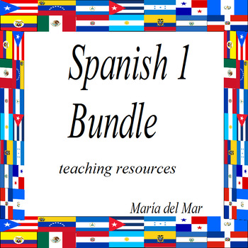 Materials for Spanish 1 Bundle