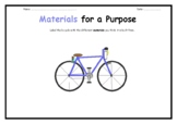Materials - label a bicycle and roller-skate and complete
