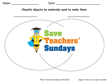 Materials that objects can be made from Lesson plan and Worksheets