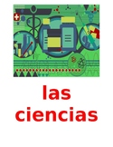 Materias (School Subjects in Spanish) Posters
