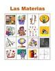 Materias (School subjects in Spanish) Bingo game