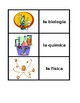 Materias School subjects Spanish Concentration games