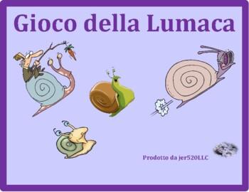Materie (School Subjects in Italian) Lumaca Snail game