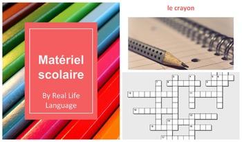 Matériel Scolaire Presentation and Crossword Puzzle