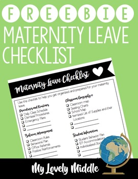 Maternity Checklist Freebie