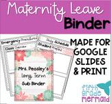 Maternity Leave Binder *EDITABLE*