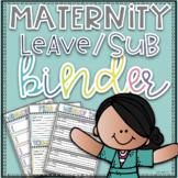 Maternity Leave Binder, Lesson Plan Template~EDITABLE