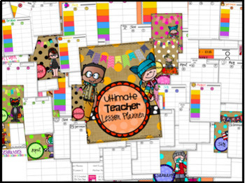 Lesson Planner and Maternity Leave Binder~ Lesson Plan Templates ~ EDITABLE!