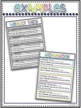 Lesson Planner and Maternity Leave Binder~ Lesson Plan Templates ~ EDITABLE