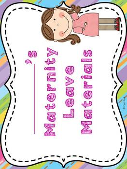 Maternity Leave Planning Notebook- Stripes and Zig Zags