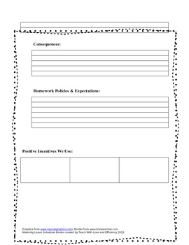 Maternity Leave Substitute Binder- Editable in Word!