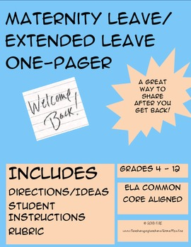 Maternity Leave/Extended Leave One-Pager