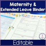 Maternity Leave Binder EDITABLE