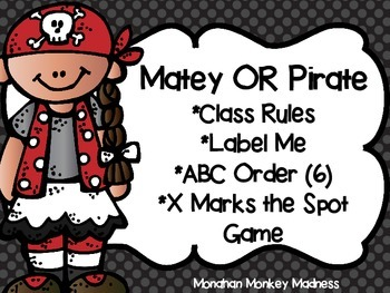 Matey or Pirate Extra Activities