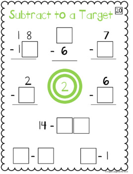 Math 0-9 Tiles - Add/Subtract to a Target