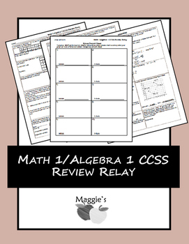 Math 1/Algebra 1 Common Core State Standards EOC Review Relay (GAME)