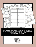 Math 1/Algebra 1 Common Core State Standards EOC Review Re