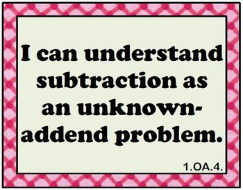 """Math 1 Common Core  Mastery Checklists, """"I can"""" Posters, Student Tracking Charts"""