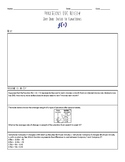 Math 1 Functions EOC Review Bundle