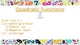 Math 1 Functions EOC Review PowerPoint