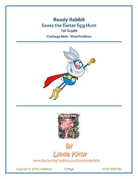 Math-1st Grade-Challenge Problems, Ready Rabbit Saves the Easter Egg Hunt