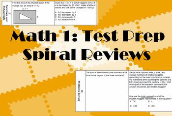Math 1 Spiral Reviews Set #1