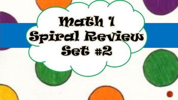 Math 1 Spiral Reviews Set #2