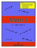 Math 1 Textbook (Student Edition) + Instructional PPT Files
