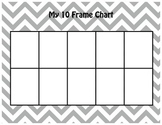 Math 10 & 20 Frame Charts - Grey Chevron