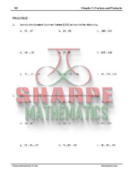 Math 10: Ch 3.1 Rules of Divisibility + GCF and LCM