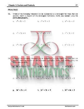 Math 10: Ch 3.4 Factoring Trinomials using Algebra Tiles (algetiles)