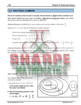 Math 10: Ch 4.2 Irrational Numbers