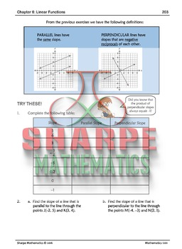 Math 10: Ch 6.2 Slopes of Parallel and Perpendicular Lines