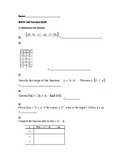 Math 10 FMP Functions Quiz