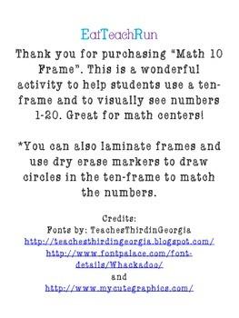Math 10-frames
