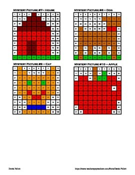 Math: One Hundred 100 Chart Mystery Pictures x10 (Counting, Number Sense)