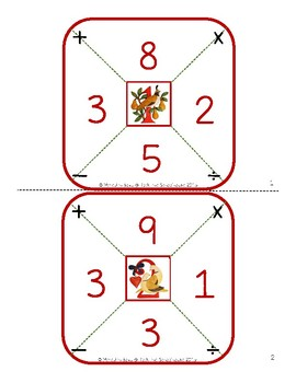 Math Cards- 12 Days of Christmas