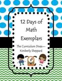Math 12 Days of Math Exemplars