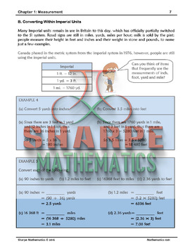 Math 10: Ch 1.3 Converting Units Within the SI (metric) and Imperial Systems