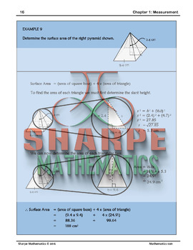 Math 10: Ch 1.5 Area and Surface Area