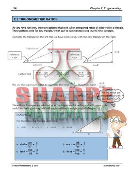 Math 10: Ch 2.2 Trigonometric ratios