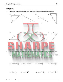 Math 10: Ch 2.4 Finding Sides Using Trigonometry