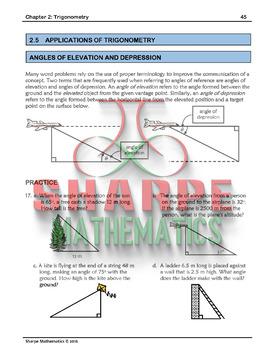Math 10: Ch 2 5 Applications of Trigonometry