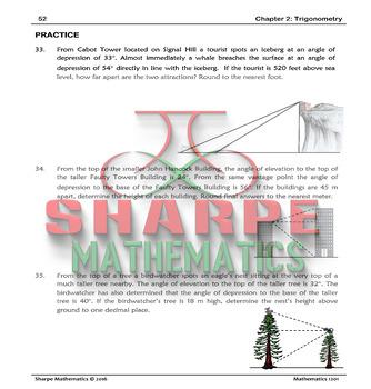 Math 10: Ch 2.6 Solving Trigonometry Problems Involving More Than One Triangle