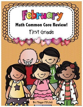 Math 1st Grade CC- No Prep Review, Practice, & Games: February