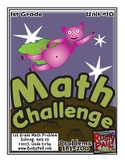 Math-1st Grade, Month 10: Challenge Problem Solving (Questions 181-200)