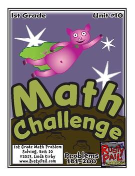 Math-1st Grade, Month 10: Challenge Problem Solving (Questions 181-200)