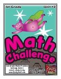 Math-1st Grade-Month 2: Challenge Problem Solving (Questio