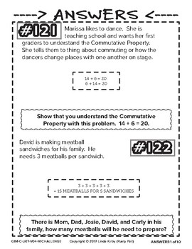 Math-1st, Grade-Month 7: Challenge Problem Solving (Questions 121-140)