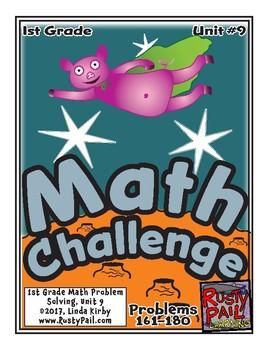 Math-1st Grade, Month 9: Challenge Problem Solving (Questions 161-180)